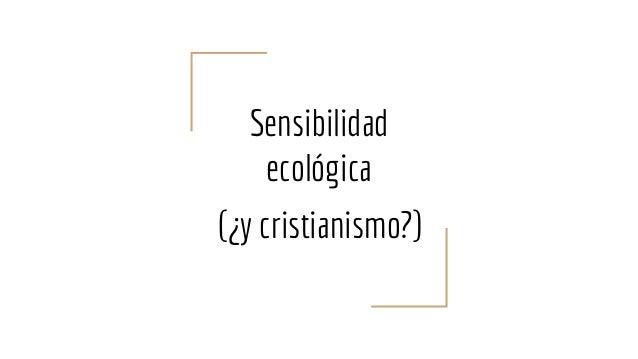 Sensibilidad ecológica (¿y cristianismo?)