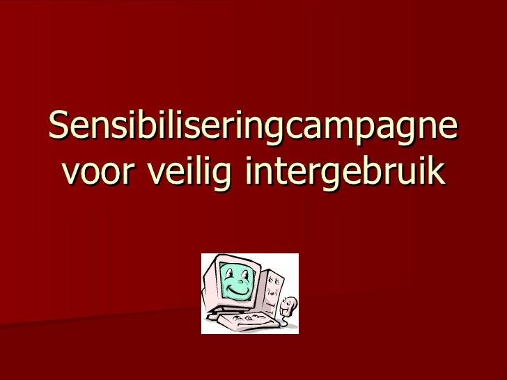 Sensibiliseringcampagne voor veilig intergebruik