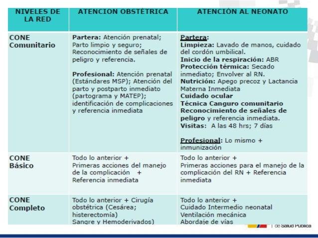 Tres pilares técnicos 1. Planificación familiar 2. Atención calificada del parto 3. CONE: Cuidados Obstétricos y Neonatale...