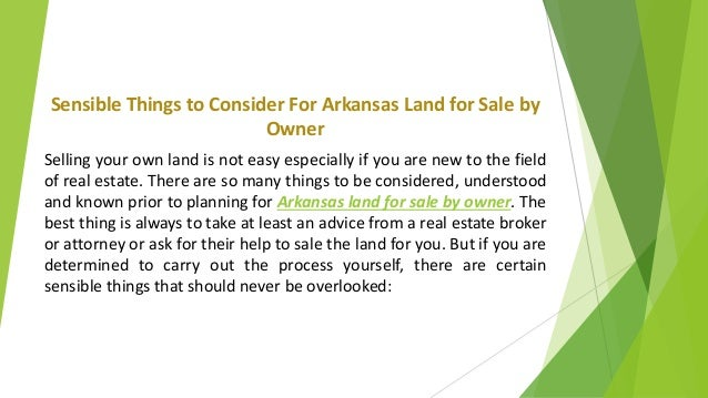 selling land by owner