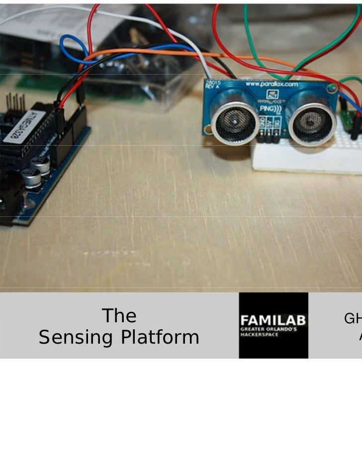 The          GHCC ProjectSensing Platform    April 2011