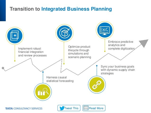 Transition to Integrated Business Planning + Implement robust financial integration and review processes Harness causal st...
