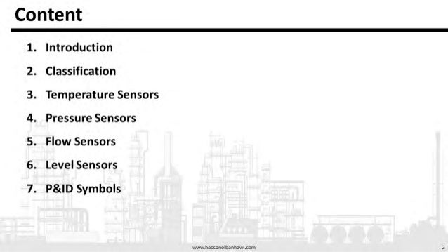 Process Control Presentation on Sensing devices as