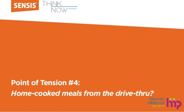 Point of Tension #4: Home-cooked meals from the drive-thru?
