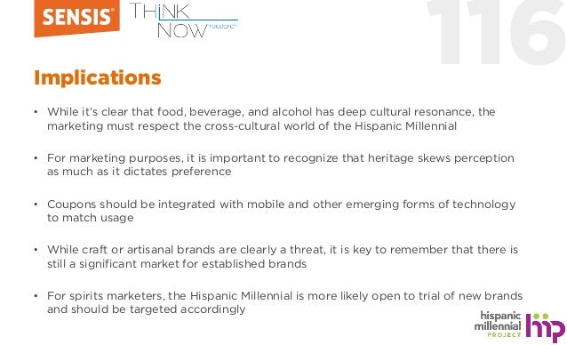 116Implications • While it's clear that food, beverage, and alcohol has deep cultural resonance, the marketing must respec...