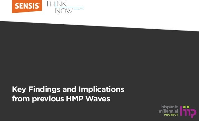 Key Findings and Implications from previous HMP Waves