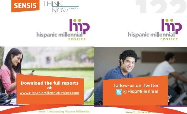 122 Download the full reports at www.HispanicMillennialProject.com follow-us on Twitter @HispMillennial