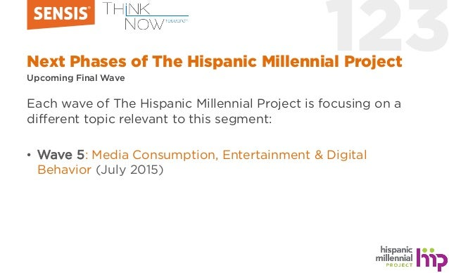 123Next Phases of The Hispanic Millennial Project Upcoming Final Wave Each wave of The Hispanic Millennial Project is focu...