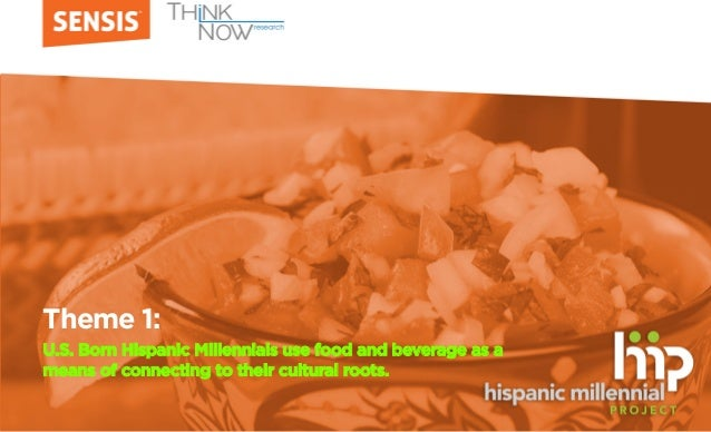 Theme 1: U.S. Born Hispanic Millennials use food and beverage as a means of connecting to their cultural roots.