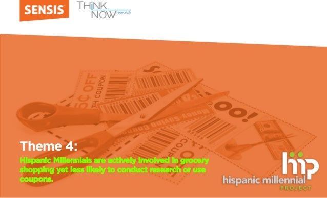 Theme 4: Hispanic Millennials are actively involved in grocery shopping yet less likely to conduct research or use coupons.