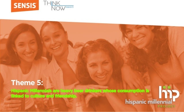 Theme 5: Hispanic Millennials are heavy beer drinkers whose consumption is linked to culture and friendship.