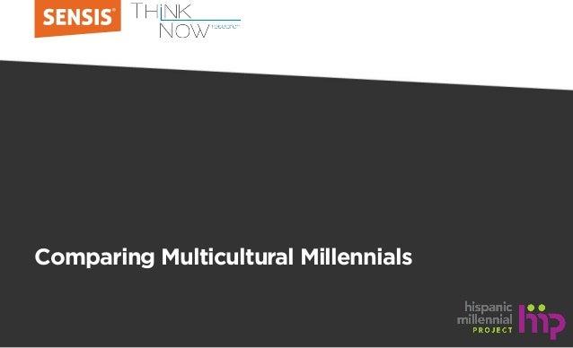 Comparing Multicultural Millennials
