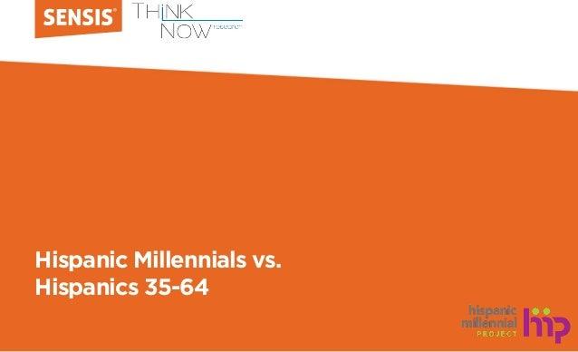 Hispanic Millennials vs. Hispanics 35-64