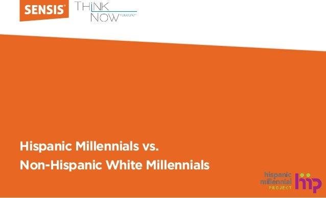 Hispanic Millennials vs. Non-Hispanic White Millennials