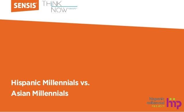 Hispanic Millennials vs. Asian Millennials