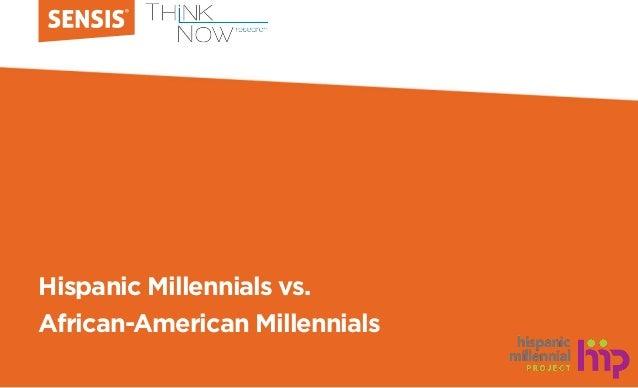 Hispanic Millennials vs. African-American Millennials