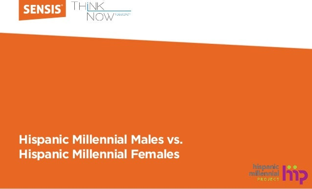 Hispanic Millennial Males vs. Hispanic Millennial Females