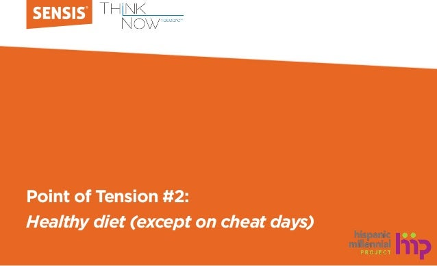 Point of Tension #2: Healthy diet (except on cheat days)