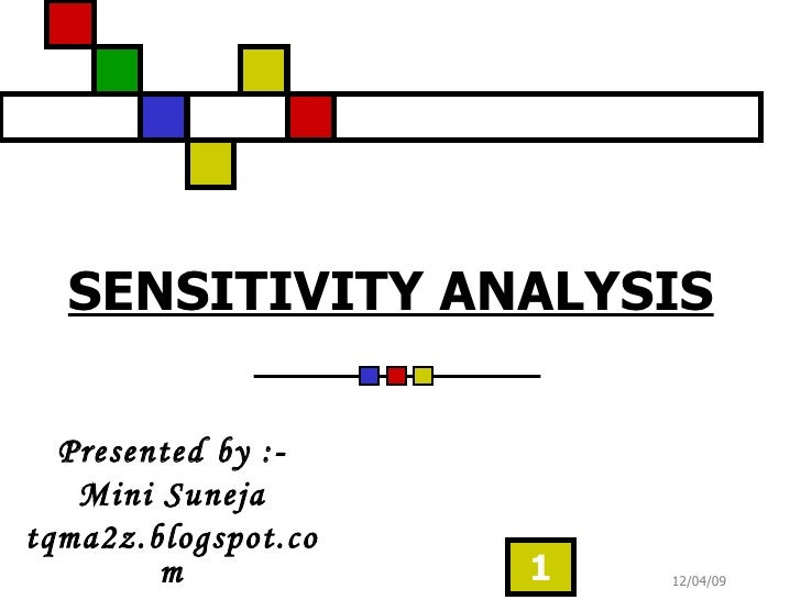 SENSITIVITY ANALYSIS Presented by :- Mini Suneja tqma2z.blogspot.com