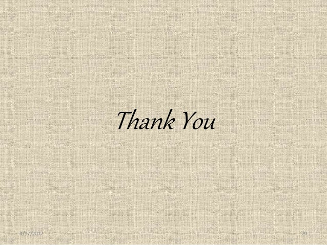 Thank You 4/17/2017 20