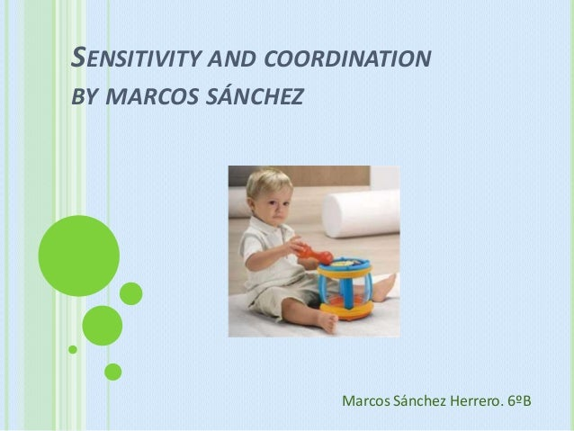 SENSITIVITY AND COORDINATIONBY MARCOS SÁNCHEZ                     Marcos Sánchez Herrero. 6ºB