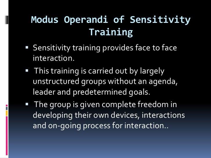 Sensitivity training