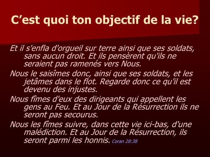 Bien connu 2- ISLAM - Sens & Objectifs De La Vie HA72