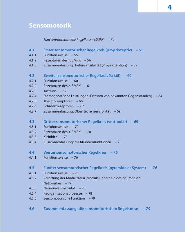 4 Sensomotorik Fünf sensomotorische Regelkreise (SMRK) – 54 4.1 Erster sensomotorischer Regelkreis (propriozeptiv) – 55 4....