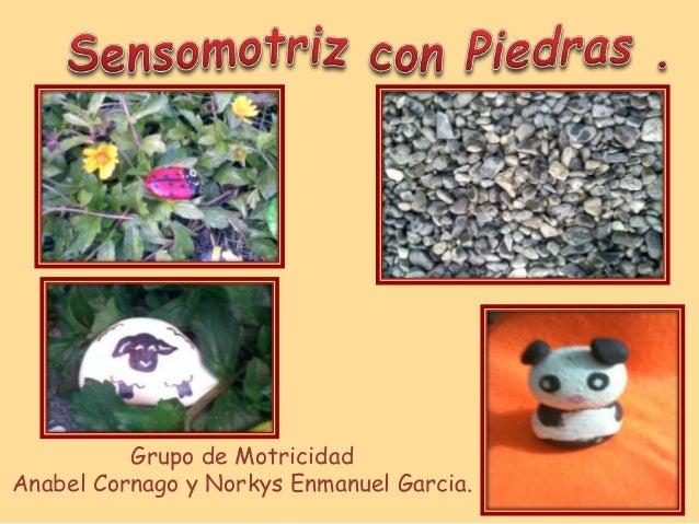 Grupo de Motricidad Anabel Cornago y Norkys Enmanuel Garcia.