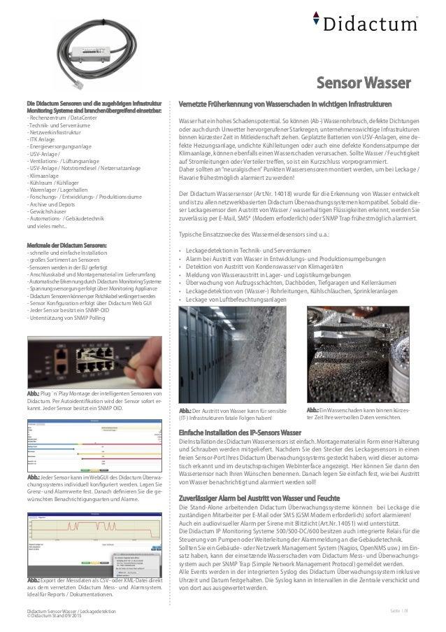 Sensor Wasser - Zuverlässige Erkennung von Wasser und Kondensat