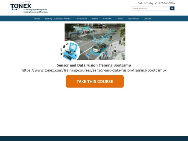 Sensor and Data Fusion Training Bootcamp