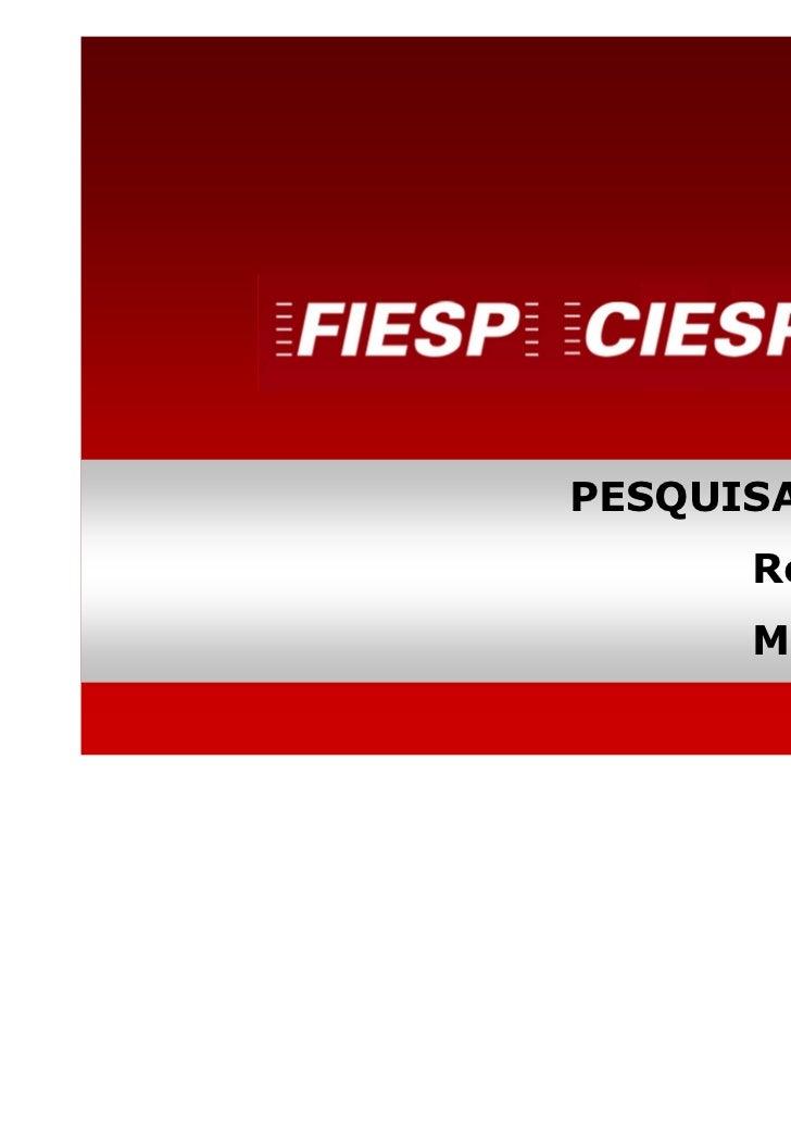 PESQUISA SENSOR      Resultados      Maio/2011          DEPECON
