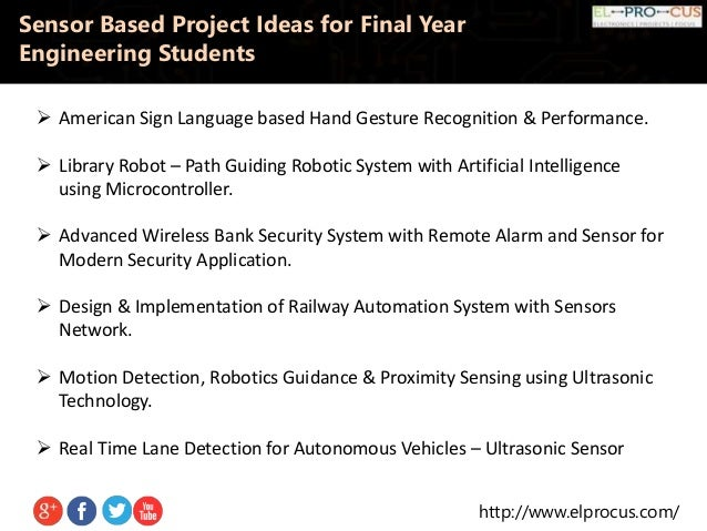 Sensor Based Project Ideas For Final Year Engineering Students