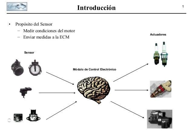 Introducción •  Propósito del Sensor – Medir condiciones del motor – Enviar medidas a la ECM  Sensor  Módulo de Control El...