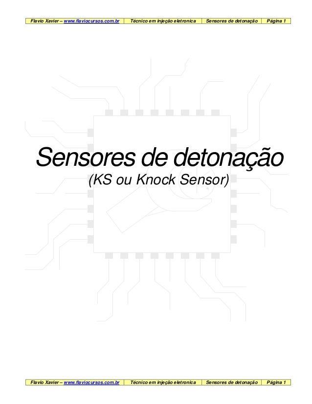 Flavio Xavier – www.flaviocursos.com.br Técnico em injeção eletronica Sensores de detonação Página 1 Flavio Xavier – www.f...