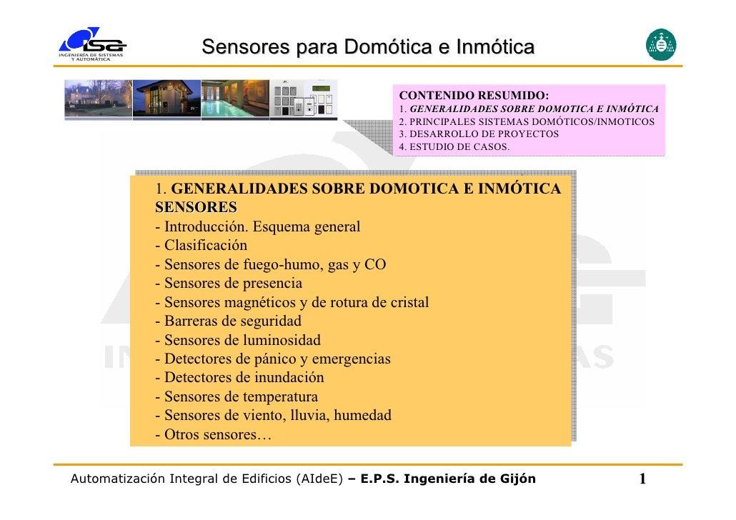 Sensores para Domótica e Inmótica                                                     CONTENIDO RESUMIDO:                 ...