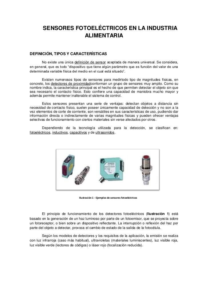 Sensores Fotoel 233 Ctricos