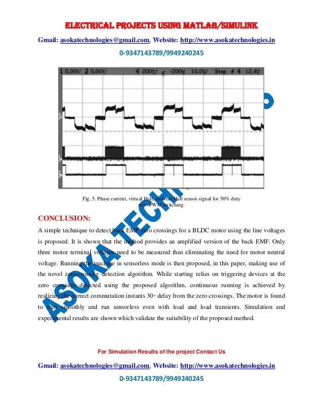 Sensorless brushless dc motor drive based on the zero