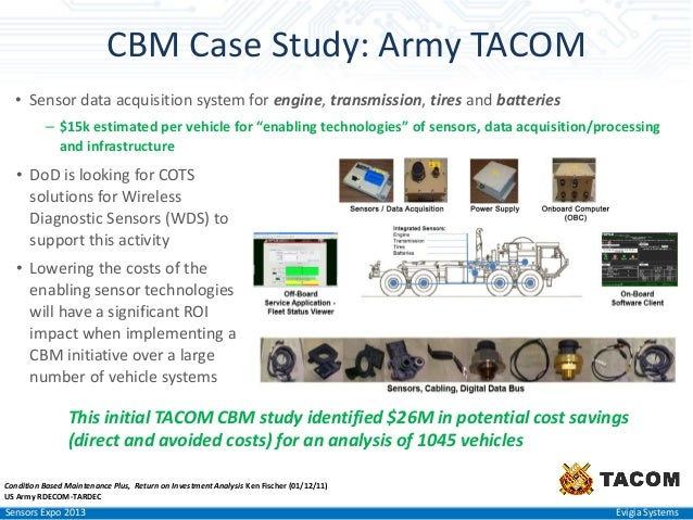 Army Nsn Data Acquisition Systems : Sensors expo condition based maintenance evigia systems
