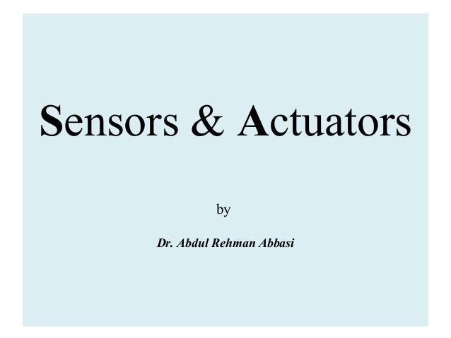 Sensors Actuators
