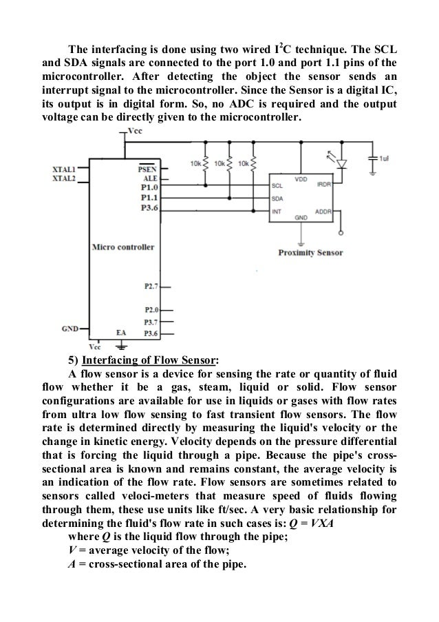 sensors and microcontroller interfacing