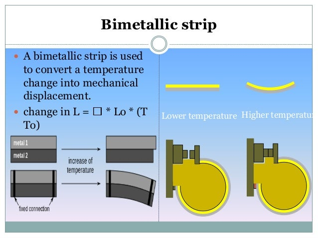 What is a bimetallic strip used for?