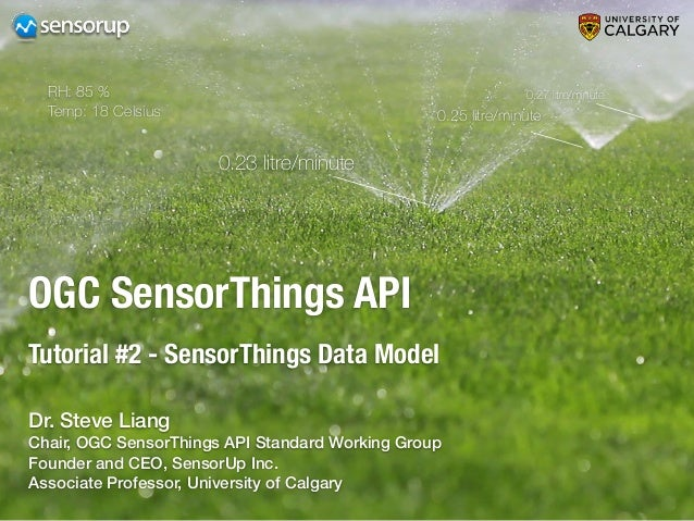 OGC SensorThings API Tutorial #2 - SensorThings Data Model 0.23 litre/minute 0.25 litre/minute 0.27 litre/minuteRH: 85 % T...