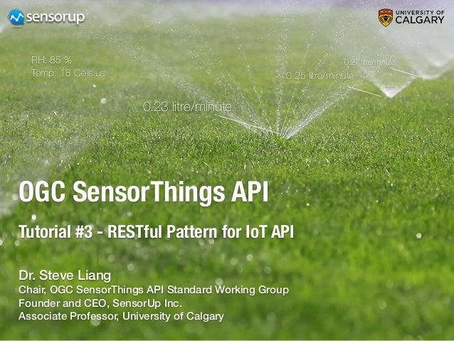 OGC SensorThings API Tutorial #3 - RESTful Pattern for IoT API 0.23 litre/minute 0.25 litre/minute 0.27 litre/minuteRH: 85...