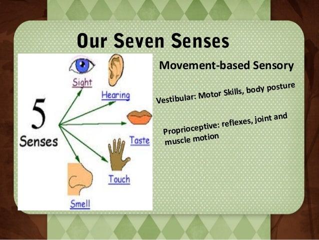 Our Seven Senses Movement-based Sensory :M Vestibular  po Skills, body oto r  sture  nd es , j o i n t a eflex ceptive: r ...