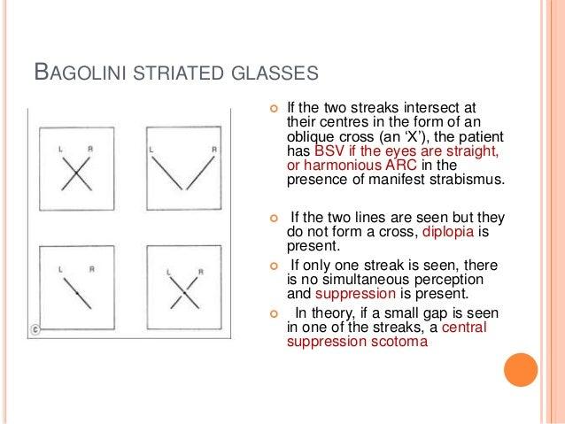 Bagolini Striated Glasses Test