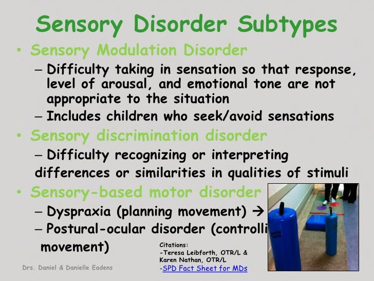 sensory integration disorder Sensory integration specific sensory and analysis materials on sit and occupational therapy's role in addressing sensory integration disorders.