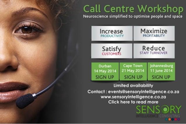 Sensory intelligence call centre workshop 2014