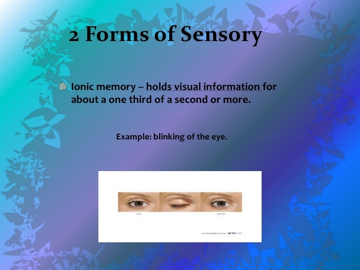 sensory memory In this lesson, you will learn about sensory memory, how it relates to other types of memory, and two specific types of sensory memory called.