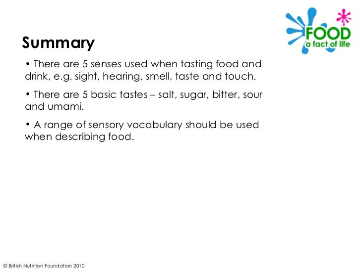 describing the sight and smell of food How does smell affect taste and you had them close their eyes so that you could testsmell and taste without includingtouch or sight tomato is a good food to.